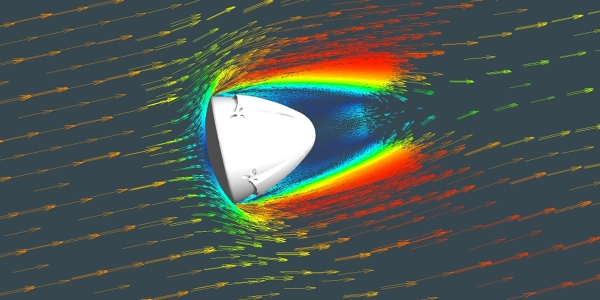 Tutorial | Supersonic Flow CFD Simulation of a Space Reentry Vehicle with ANSYS CFX