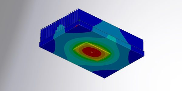 Heat Sink Thermal Simulation with ANSYS Discovery Live