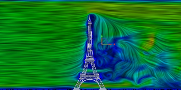 Eiffel Tower CFD Simulation