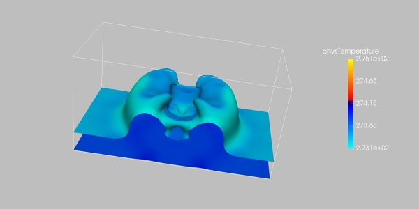 Rayleigh Benard Thermal Simulation with OpenLB
