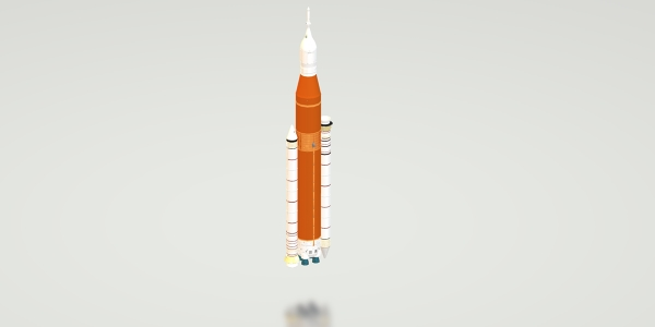 Space Launch System (SLS) Block 1 3D Model