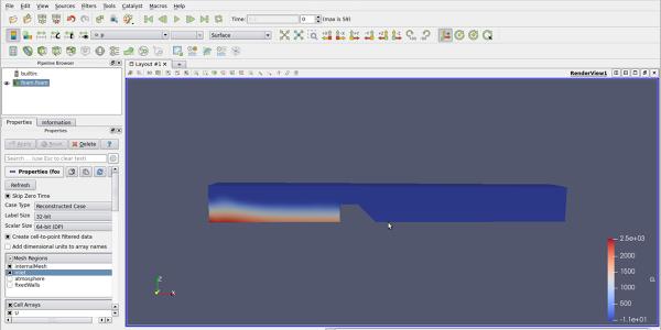 Simulación 3D de un canal con vertedero en OpenFOAM