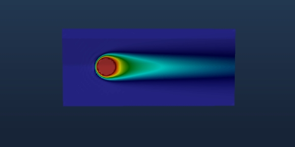 LBM simulation of heated object in channel using Palabos