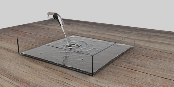 Realistic fluid simulation with Cycles render engine of Blender