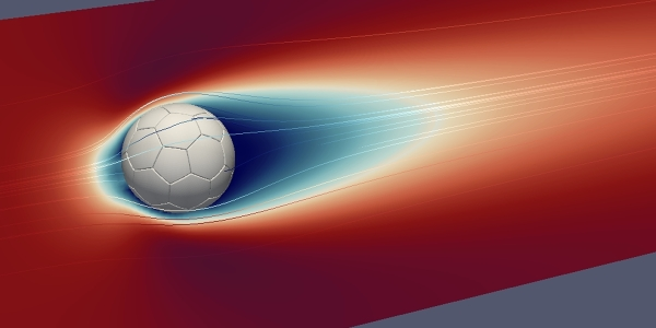 Football Aerodynamics Simulation Palabos