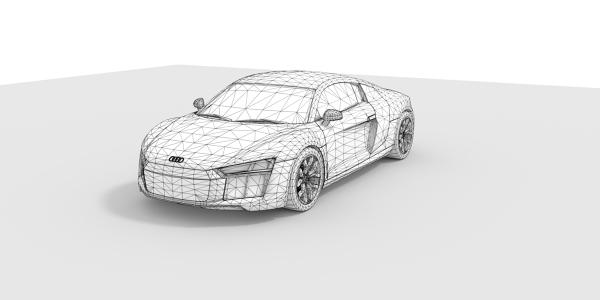 Audi R8 CAD Model