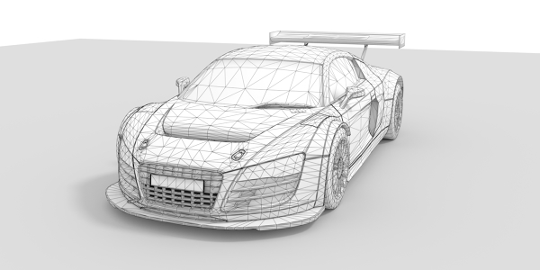 Audi R8 LMS Ultra 3D Model
