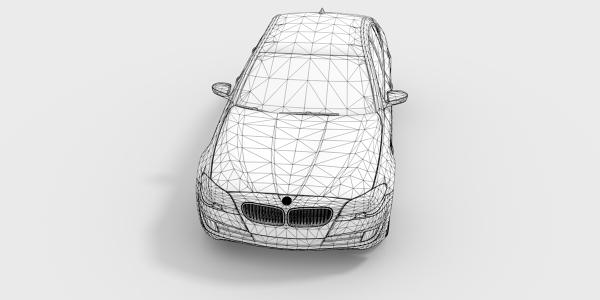 BMW 535i CAD