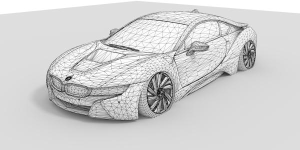 BMW i8 CAD