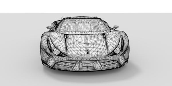 Ferrari F60 Stradale CAD