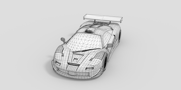McLaren F1 GT1 CAD