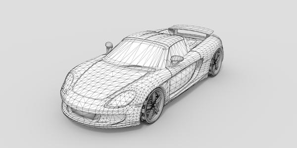 Porsche Carrera GT CAD