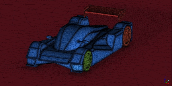 Racing Car Mesh For Simulation