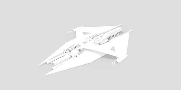 Narn Cruiser 3D Model