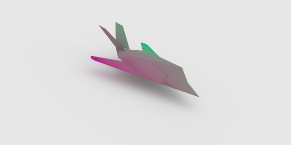 Stealth Aircraft 3D Model