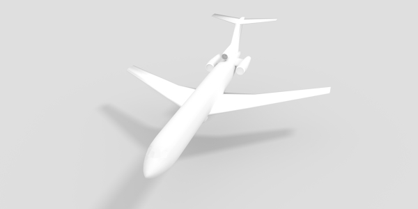 Boeing 727 CAD model