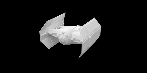 Star Wars Tie 3D Model