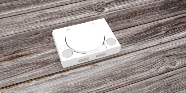 PlayStation Console 3D Model