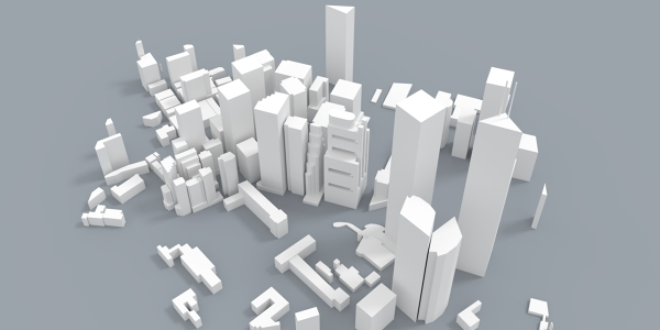 Hong Kong Skyline 3D Model