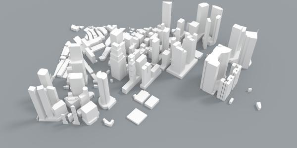 Singapore Skyline 3D Model