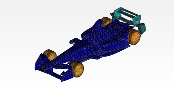 Formula E 2017 Race Car Mesh for CFD Study