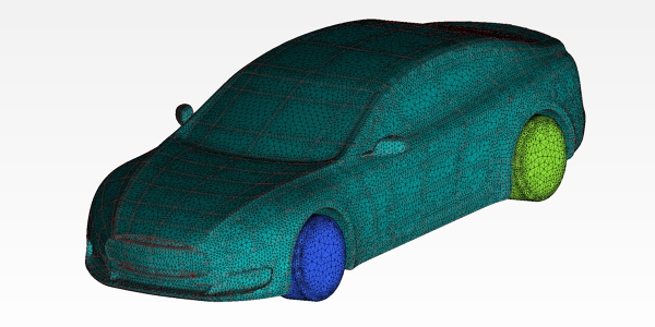 Tesla Model S Mesh for CFD Study