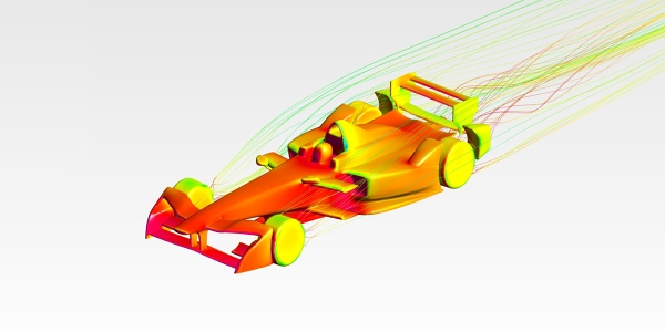 Formula E 2017 Race Car Aerodynamics Analysis