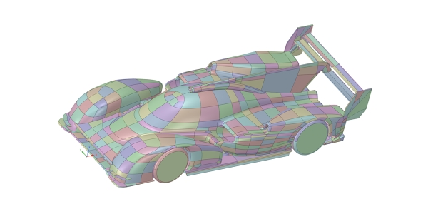 Porsche 919 Evo Race Car CAD Model for CFD
