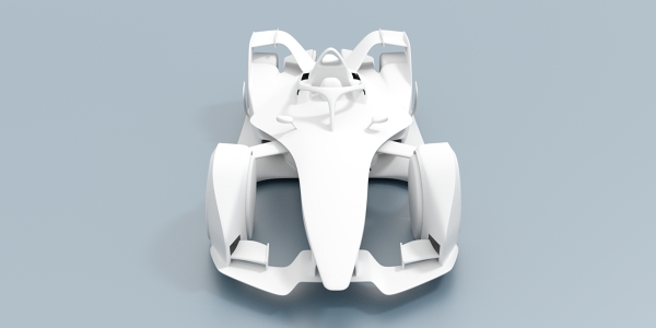 Formula E 2018 Race Car CAD Model for CFD