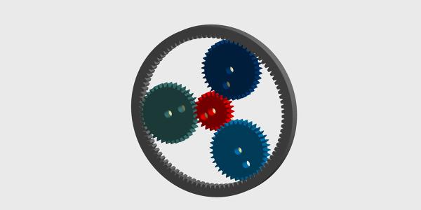 Epicyclic Gear Train Rigid Body Dynamics Analysis