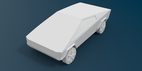 Tesla Cybertruck 3D CAD Model for Aerodynamics Study