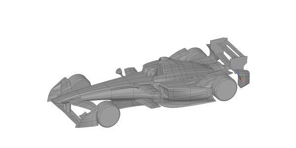Formula E Race Car CAD Model for CFD