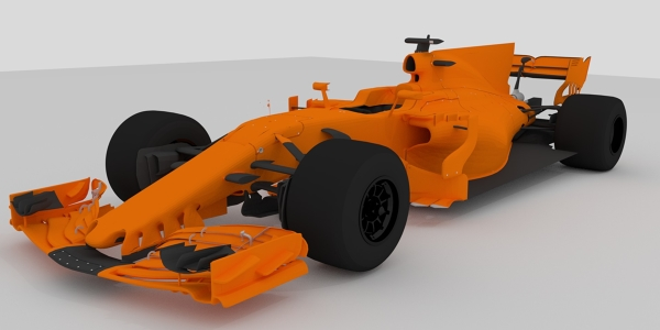 McLaren 2017 F1 Car 3D Model