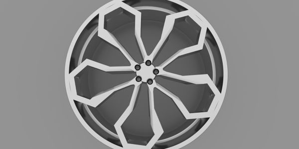 3D Model of an Alloy Wheel