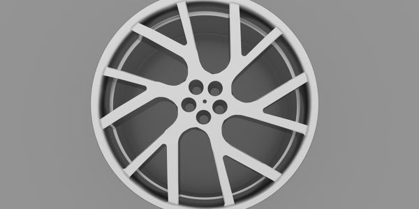 Rendering of an Alloy Wheel Rim 3D Model