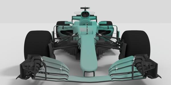 Mercedes 2017 F1 Car 3D Model