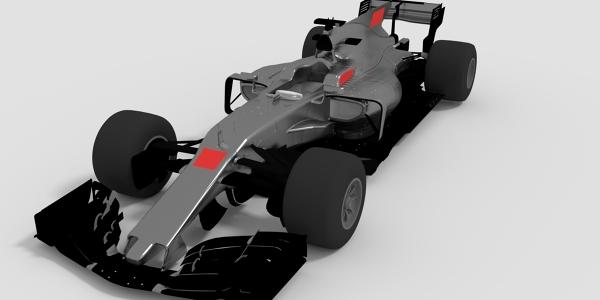 Haas 2017 F1 Car 3D Model