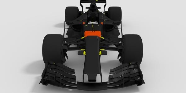 Red Bull 2017 F1 Car 3D Model