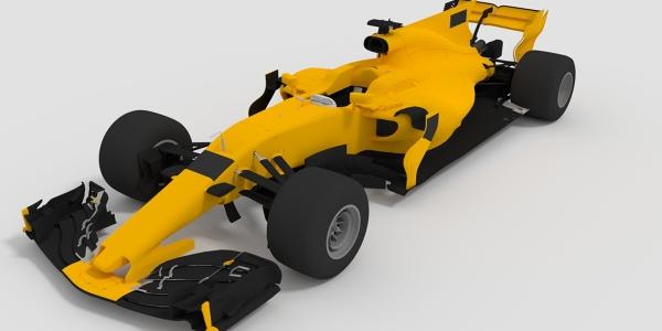 Renault 2017 F1 Car 3D Model
