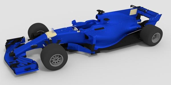 Sauber 2017 F1 Car 3D Model