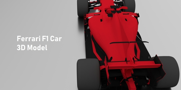 Ferrari 2017 F1 Car 3D Model