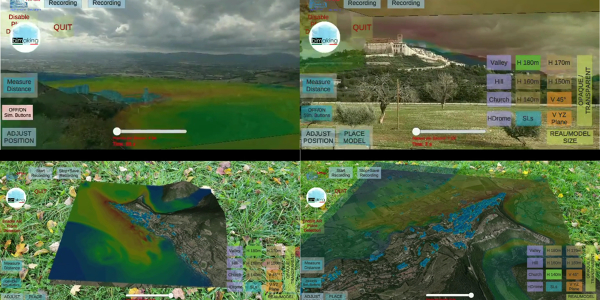CFD Wind Analysis of the Valley of Assisi (Perugia, Italy) in Augmented Reality