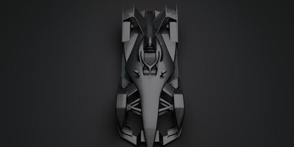 Formula E 2018 Race Car 3D Model