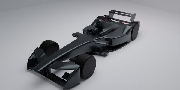 Formula E Race Car 3D Model