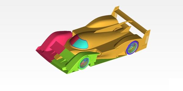 CFD Simulation Mesh LMP Car