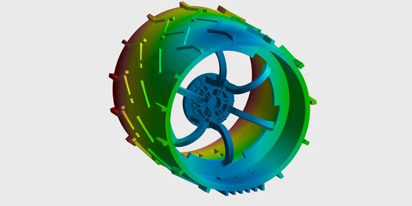 FEA Simulation of Mars Rover Wheel
