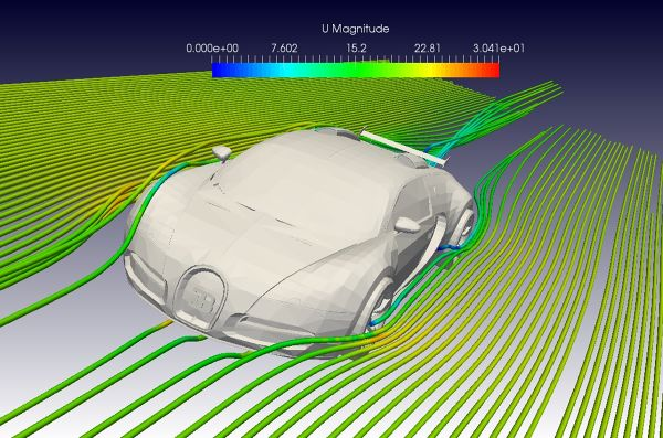 Bugatti Veyron CFD Simulation with OpenFOAM