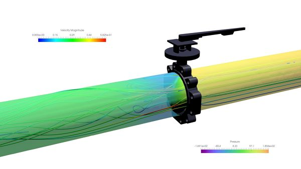 Butterfly-Valve-Simulation-ANSYS-CFX-Velocity-Streamlines-Pressure-Surface-Plane--FetchCFD-view-2.jpg