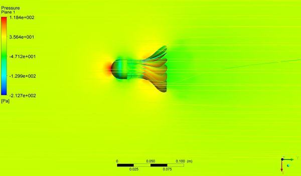 Shuttlecock-Simulation-ANSYS-Fluent-Pressure-surface-and-Mid-Plane-Velocity-Streamlines.jpg