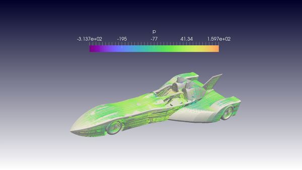 Deltawing-Nissan-CFD-Simulation-OpenFOAM-Pressure-Surface-Streamlines-FetchCFD.jpg